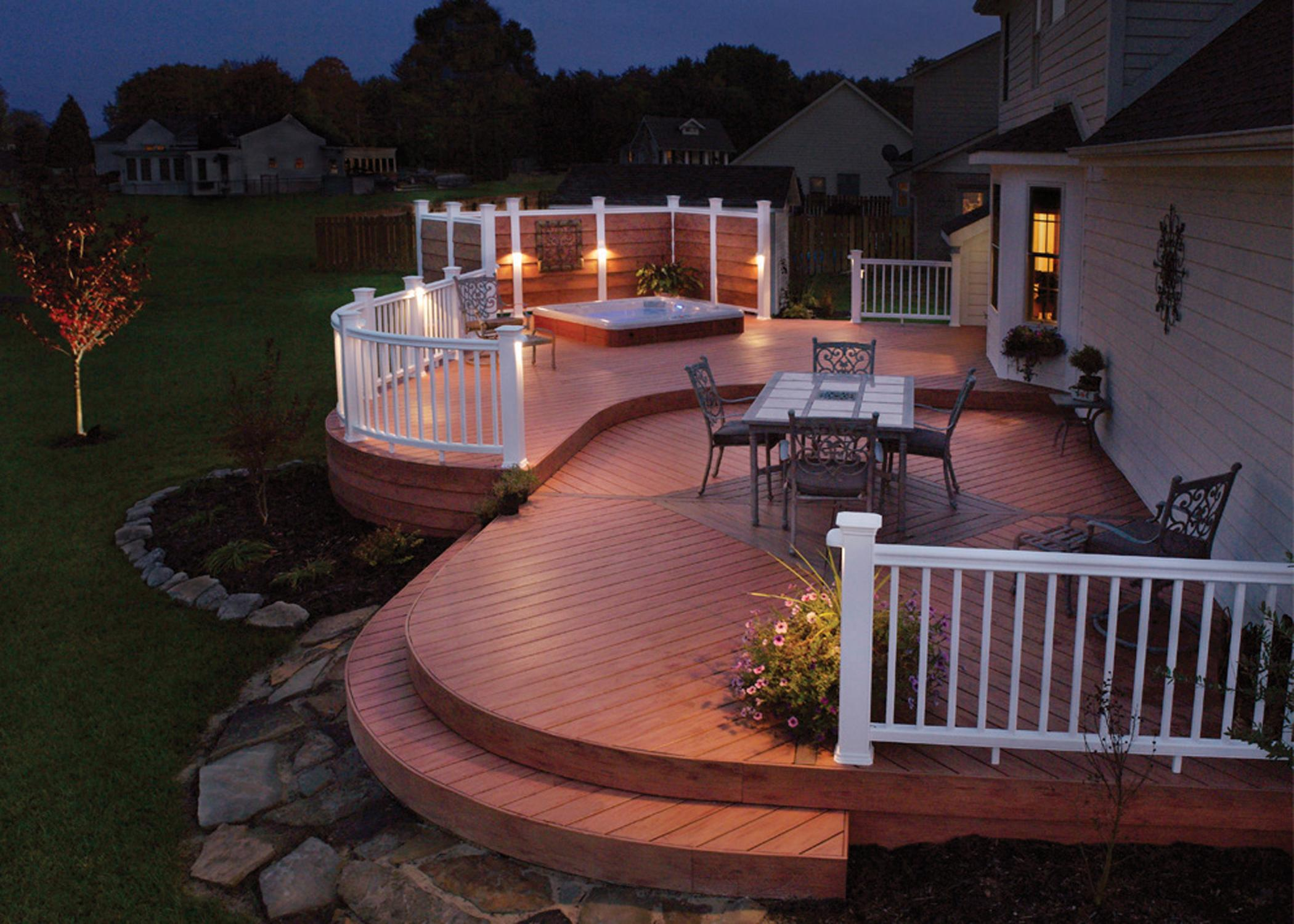 Deck lighting fixtures lighting design pictures for Beautiful garden decking