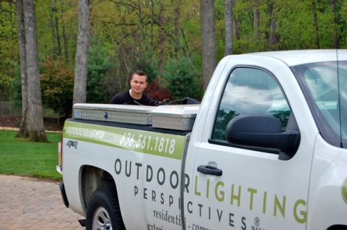 Professional outdoor lighting installation in St. Louis and the surrounding areas