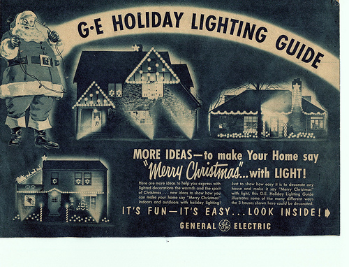 GE vintage ad. for holiday lights