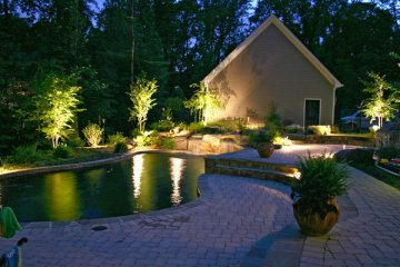 Landscape lighting pool lighting St. Louis