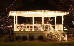 Outdoor holiday lighting community centers