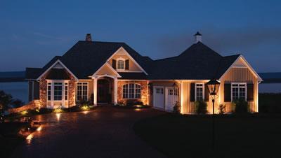 Garage lighting outdoor lighting and landscape lighting in st good outdoor lighting should include your garage mozeypictures Images