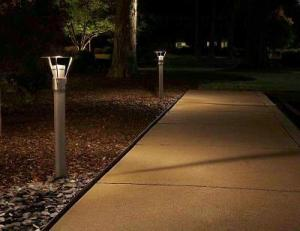 Outdoor lighting makes pathways and sidewalks safer at night