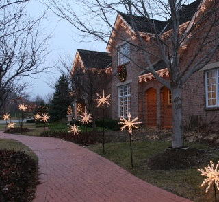 St. Louis holiday lighting holiday lighted starbursts