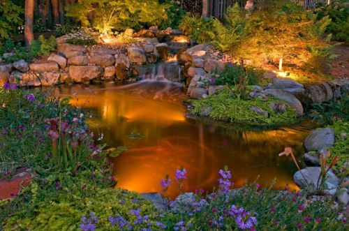 Outdoor lighting perspectives water garden lighting
