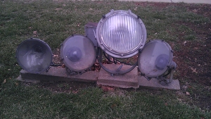 poorly installed outdoor lights by landscaper