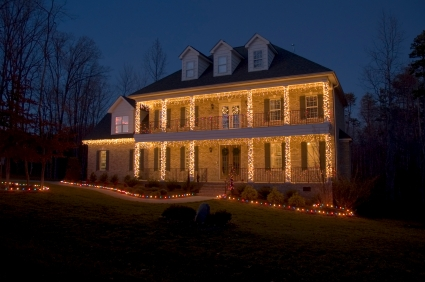 Christmas Holiday Column Lighting By Outdoor Lighting Perspectives