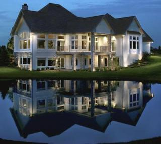 LED Outdoor lighting is a beautiful reflection on your home.