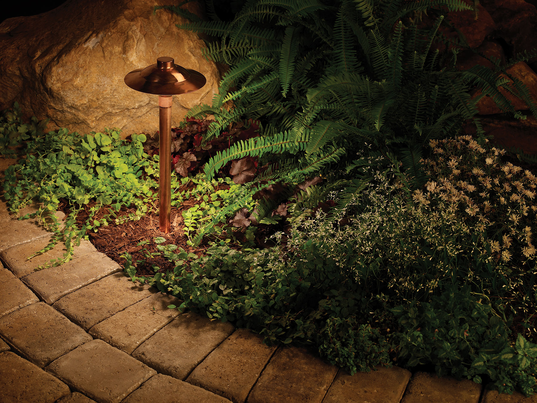 Our classic copper path light is a work of art in itselfSt  Louis landscape lighting   Outdoor Lighting and Landscape  . Focus Landscape Lighting Parts. Home Design Ideas