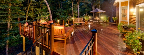 St. Louis deck and patio lighting